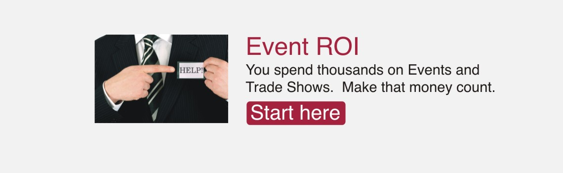Tradeshow and event marketing page